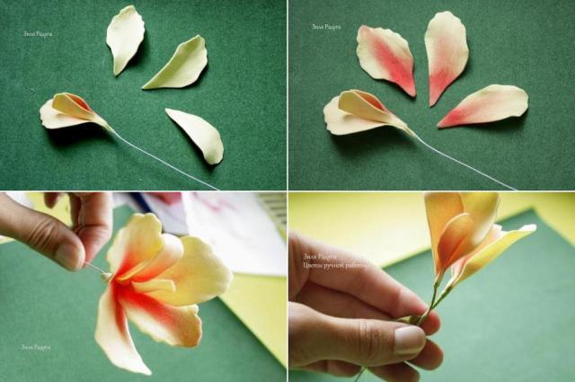 цветок на шпилька из фома мастер класс