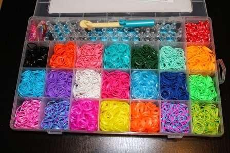 Плетение браслета с помощью станка