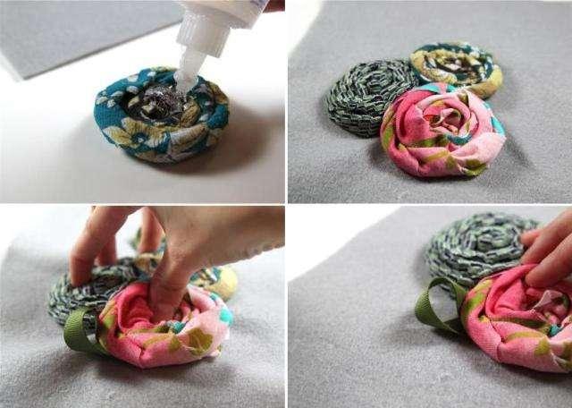 мастер класс по изготовлению цветов из ткани, фото