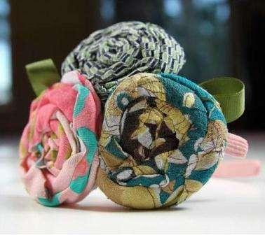 цветы из ткани мастер класс пошаговое фото