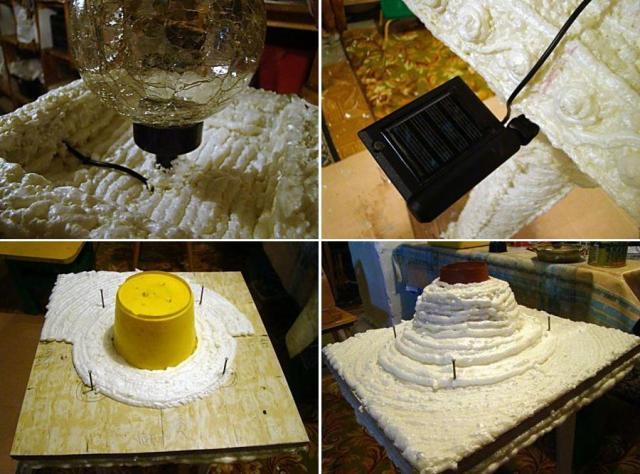 После этого из большого куска фанеры делается крыша, которая устанавливается на стойки