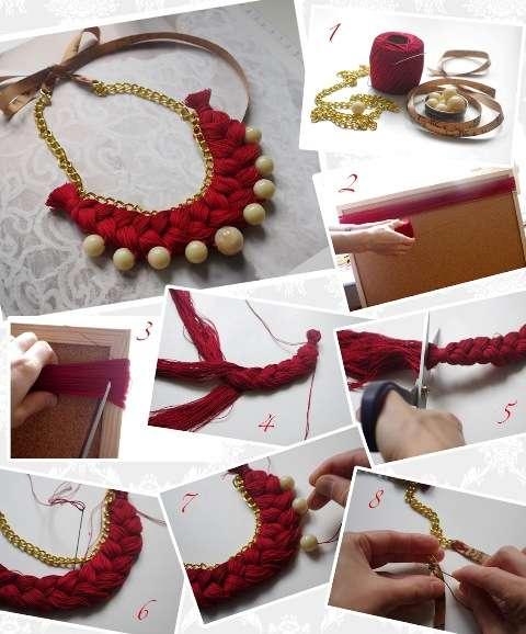 Мастер-класс ожерелье из ниток
