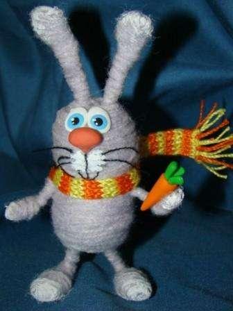 заяц своими руками из ниток