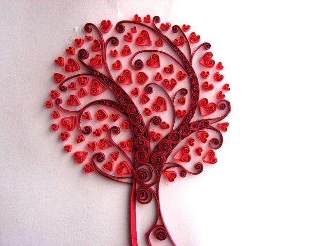 Дерево в технике квиллинг, страна мастеров
