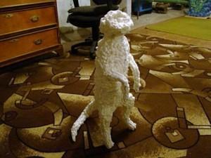 Все хорошо пропеньте и придайте скульптуре внешний вид лисы