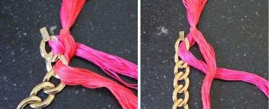 Ожерелье из ниток своими руками