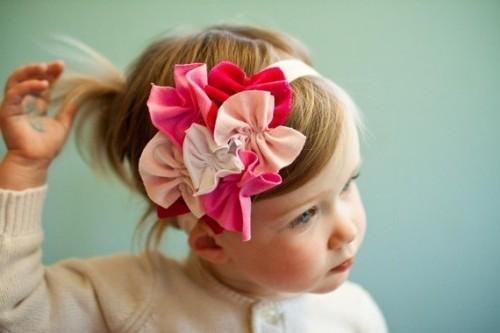 Красивые повязки на голову для новорожденных