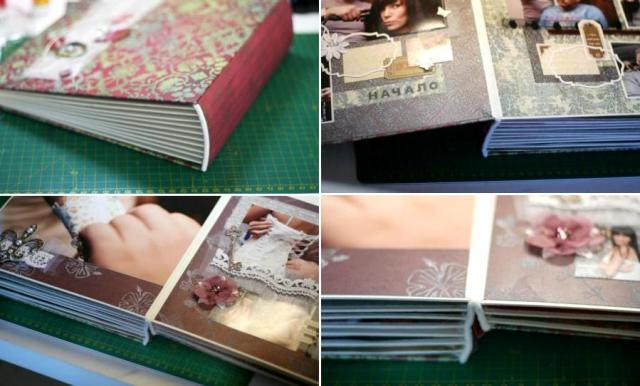 Альбом готов, теперь картонные страницы можете задекорировать покупными красивыми страницами