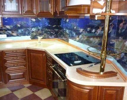 оригинальные морские мотивы на кухне