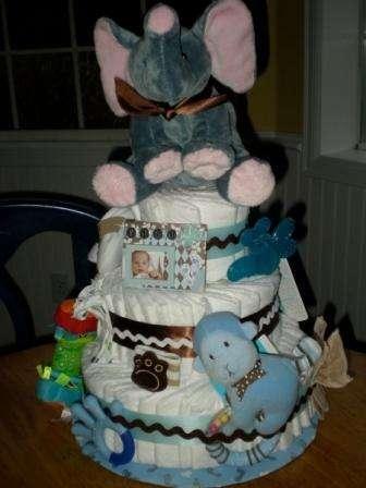 Мастер-класс делаем пошагово торт из памперсов для новорожденных