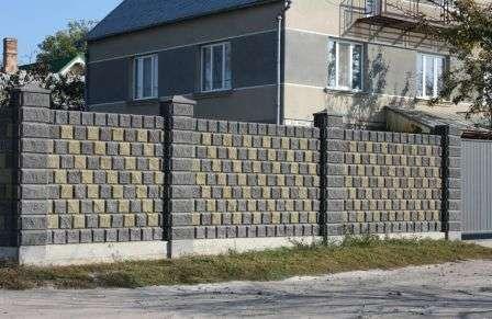 этапы строительства забора из блоков, фото
