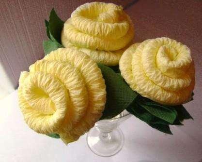Как сделать розы из салфеток своими руками. Мастер-класс