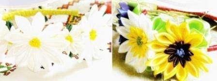 Чтобы обруч смотрелся красиво и ненавязчиво, делайте цветочки разных размеров. Учитывайте также цветовую гамму, тогда готовое изделие будет красивым и гармоничным.