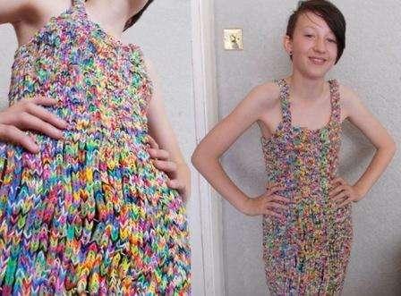 Одежда из резиночек для людей и для кукол. Фото и видео