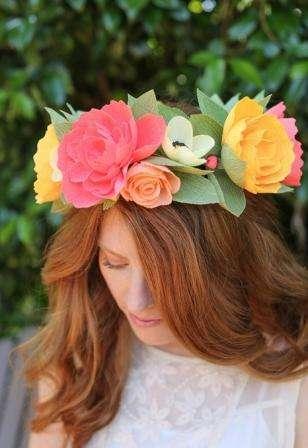 Венок из цветов на голову своими руками фото 253