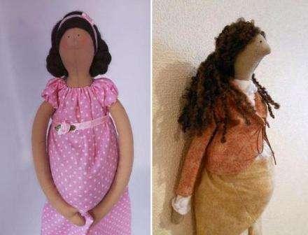 Мастер-класс кукла Тильда беременная