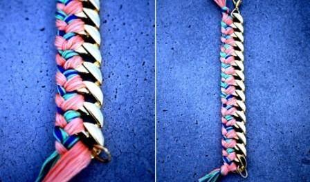 браслет из ниток мулине как сделать своими руками