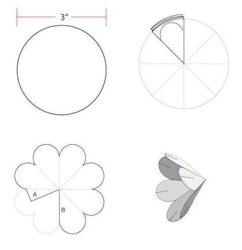 Открытка объемный цветок из бумаги своими руками схема, яркие красочные картинки