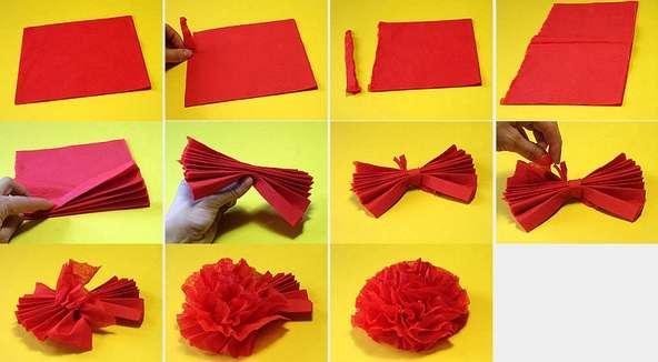 как сделать поделки из салфеток своими руками пошаговая инструкция