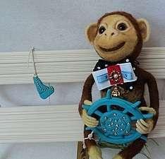 Игрушка обезьянка. Валяние из шерсти для начинающих