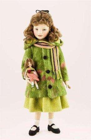 Красивая куколка из фетра