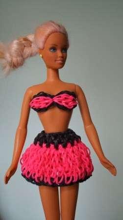 Одежда из резинок rainbow loom для кукол, с фото и видео