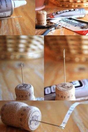 инструмент для квиллинга (большая иголка на пробке)