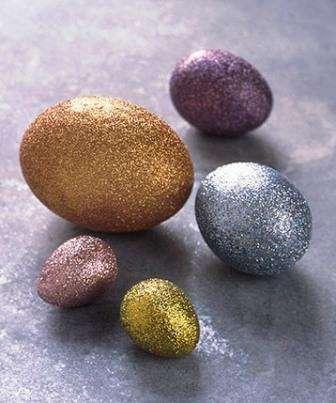 Блестящие яйца на Пасху