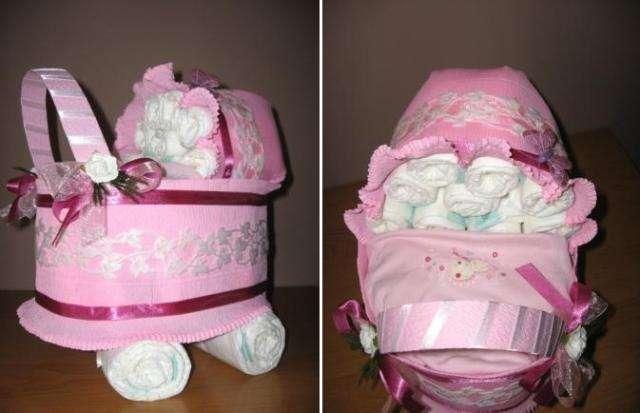 Подарки из памперсов – лучшая идея для новорожденного