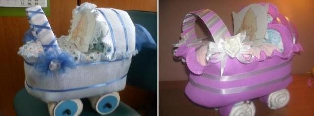 подарки из памперсов для девочки мастер класс