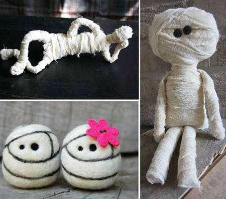 Мумии - поделки своими руками на Хелловин