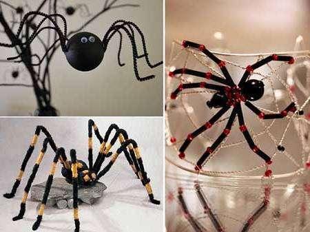 Пауки - поделки на Хэллоуин