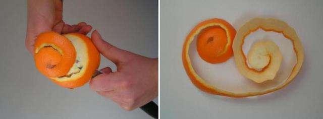 Декоративная роза из апельсиновой корки