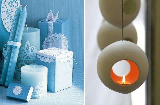 Также можно взять декоративную банку из стекла и положить в нее свечу, или сделать абажур с интересным изображением