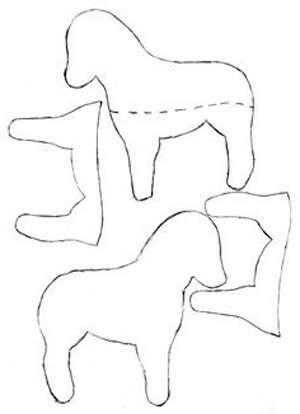 выкройка для лошадки тильда