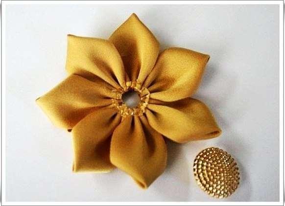Цветок из ленты своими руками пошаговое фото МК