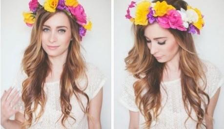Ободок и венок из цветов на голову своими руками