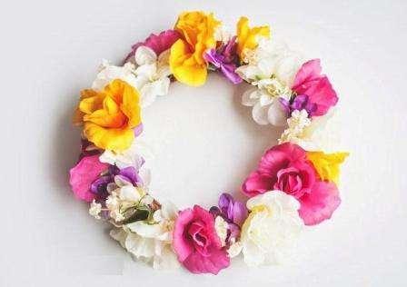 веночек из искусственных цветов на голову своими руками