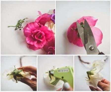 Искусственные цветы своими руками из бумаги фото 642