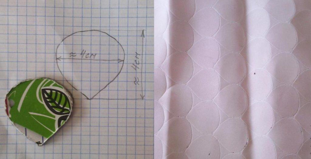 нарисуйте на бумаге лепесток подходящего размера