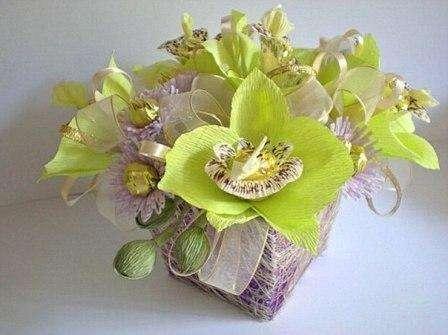 Цветы из гофрированной бумаги своими руками. Видео