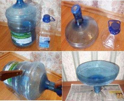 Большая ваза из пластиковой бутылки своими руками 828