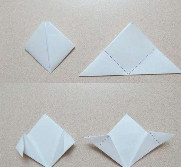 В технике оригами можно сделать самые разные цветы, которые станут оригинальным украшением интерьера и приятным подарком. Подготовьте квадратик из бумаг