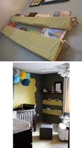 В детскую комнате лучше всего делать мебель без острых углов.</p> <p> Один из распространённых вариантов – книжные полки из ткани. Если пошить специальные мешочки, то ваш ребёнок никогда не ударится, и ему будет удобно доставать книги и другие предметы.» width=»167″ height=»300″/></p></div> </p> <p>В детскую комнате лучше всего делать мебель без острых углов.</p> <p> Один из распространённых вариантов – книжные полки из ткани.</p> <p> Если пошить специальные мешочки, то ваш ребёнок никогда не ударится, и ему будет удобно доставать книги и другие предметы.</p> <h3>Смотрите видео: Полка своими руками</h3> <p><iframe data-src=