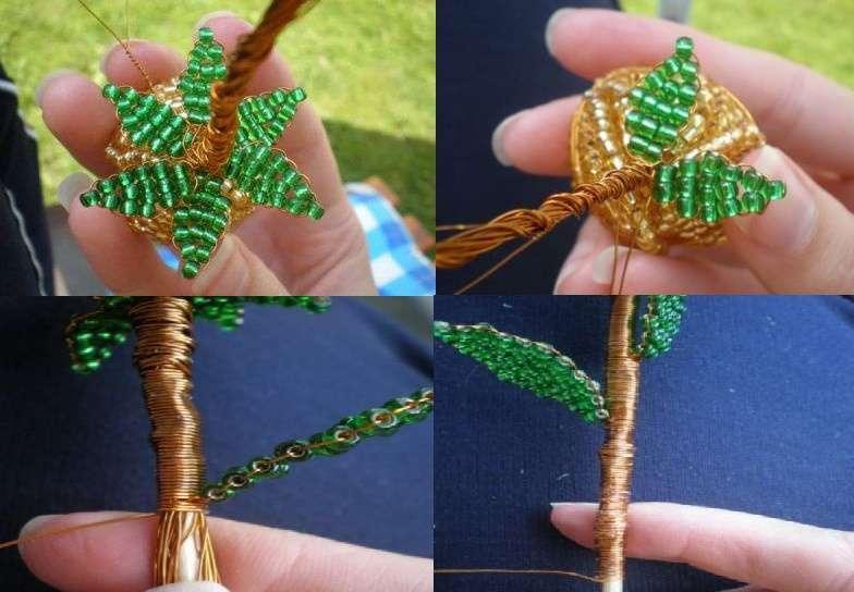Розу можно закрепить на стержне или использовать плотную проволоку.</p> <p> Обмотайте стержень проволокой и прикрепите зелёные листочки.</p> <p> Розочка готова. При необходимости можете обмотать зеленой тейп-лентой, тогда цветок будет более похож на настоящий» width=»784″ height=»544″/></p></div> </p> <p>Сделайте несколько таких цветочков и попробуйте их загипсовать в горшочке. Гипс обычно разводят в холодной воде и заливают в горшочек.</p> <p> После этого цветочки вставляются в горшок, которые можно дополнительно задекорировать лентами или искусственной травой.</p> <p><div style=