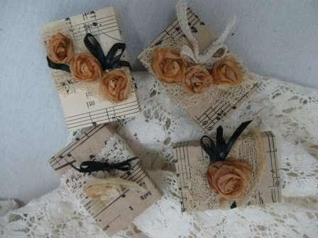 Розы из чайных пакетиков. Фото