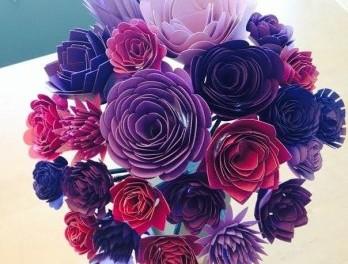 Цветы из бумаги своими руками. Мастер-класс. Фото
