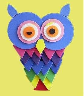Делаем детские аппликации из цветной бумаги
