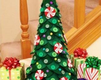Новогодние елка из фетра своими руками на елку выкройки