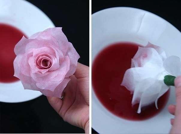 Своими руками цветы из бумаги розы